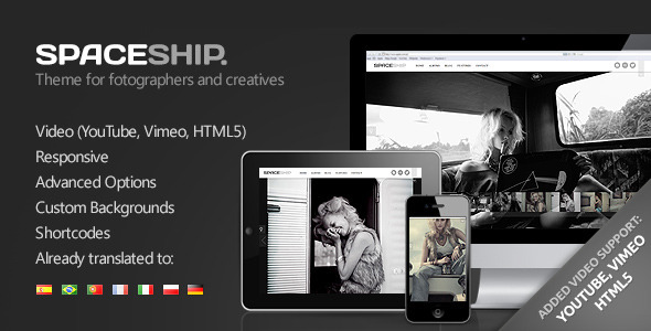 Spaceship - Minimalist Photography Portfolio Theme