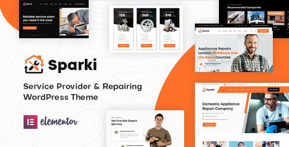 Sparki | Service Repair WordPress Theme