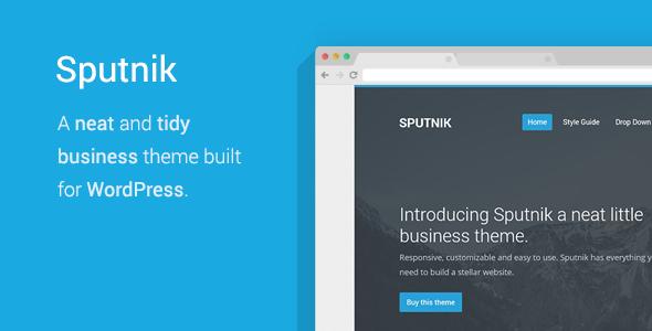 Sputnik - A Tidy Business WordPress Theme