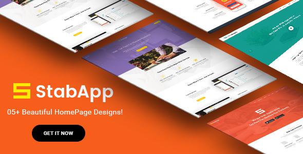 StabApp - Mobile App Showcase WordPress Theme