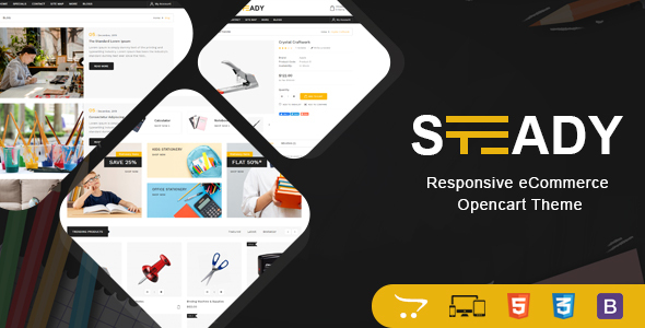 Steady - Stationary OpenCart Theme