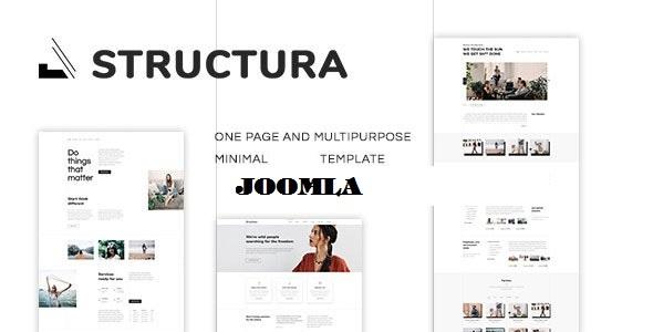 Structura - Minimal One Page Joomla Template