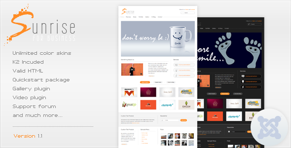 Sunrise - Premium Joomla Template