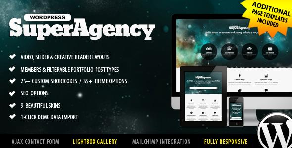 Super Agency - Responsive WordPress Single Page