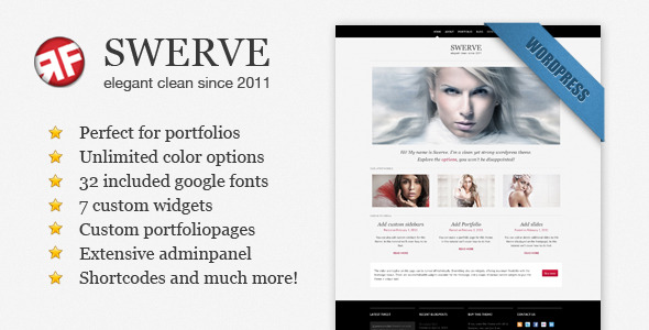 Swerve: Clean Portfolio Wordpress Theme