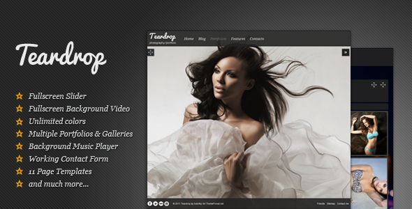 Teardrop - Fullscreen Photography Theme