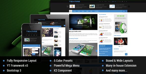 Tekmag -  Technology News/Magazine Joomla Template