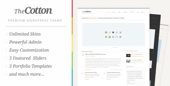 The Cotton - Powerful Minimalistic WordPress Theme