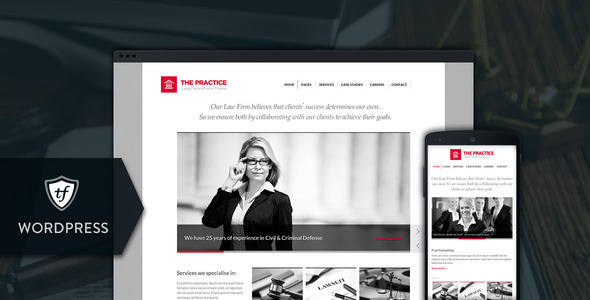 The Practice - Lawyer WordPress Theme