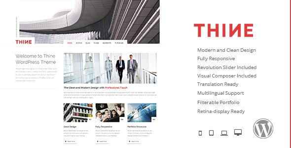 Thine - Responsive Modern WordPress Theme