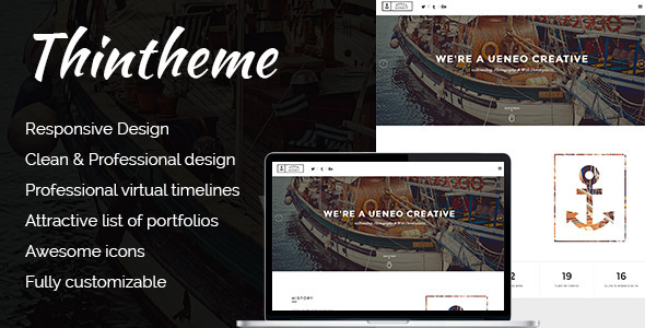 Ueneo - Creative One Page Parallax Joomla Template