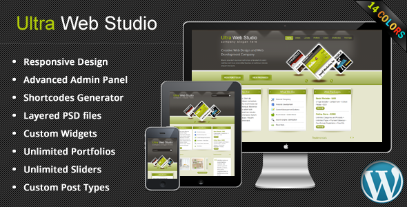 Ultra Web Studio, Blog & Portfolio Wordpress Theme