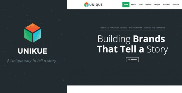 Unikue - One Page Joomla Template