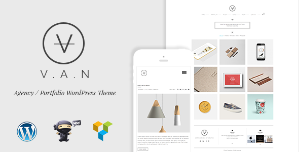VAN - Minimalist Agency, Photo Gallery Shop Theme