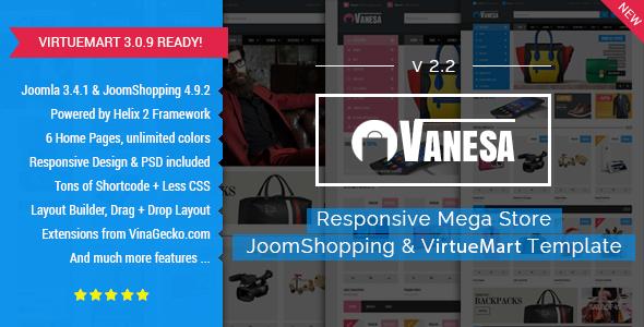 Vanesa | Mega Store Responsive Joomla Template