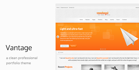 Vantage - Responsive Business Joomla Template