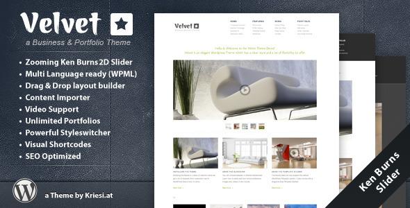Velvet - Minimal Business Theme
