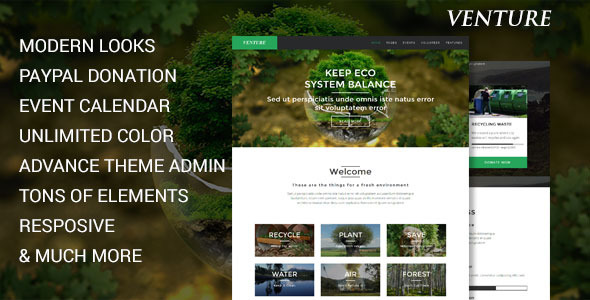 Venture – Modern Environmental Joomla Template
