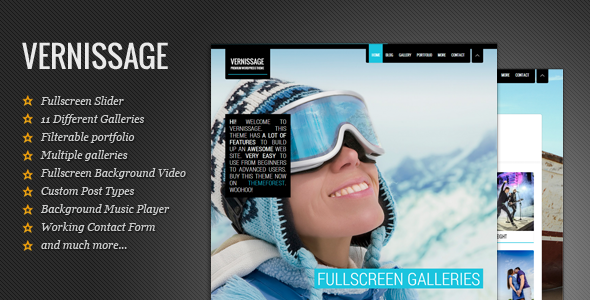 Vernissage - Photography WordPress Theme