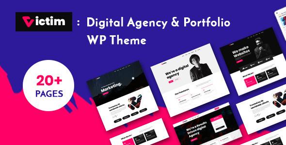 Victim - Digital Agency & Portfolio WordPress Theme