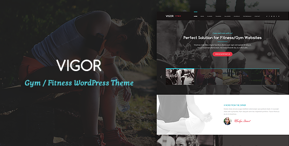 Vigor - Gym/Fitness WordPress Theme
