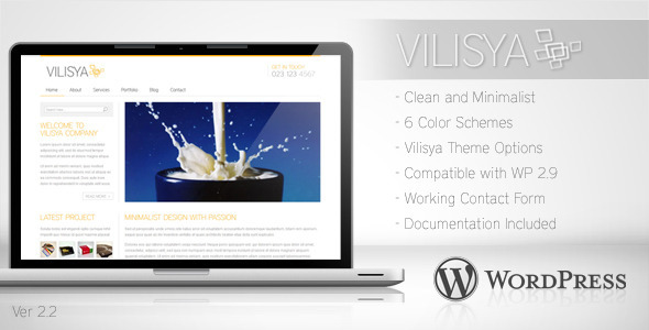 Vilisya - Minimalist Business Wordpress Theme 3