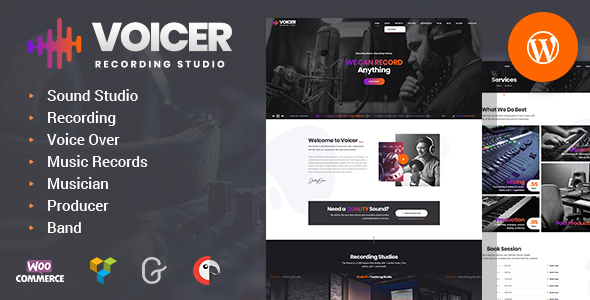 Voicer - Recording Studio WordPress Theme