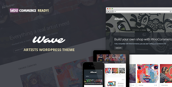 Wave - WordPress Theme for Artists
