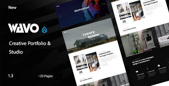 Wavo - Creative Portfolio & Agency Drupal 9 Theme