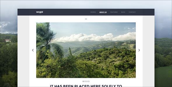 Weald - Flat Responsive Portfolio WordPress theme