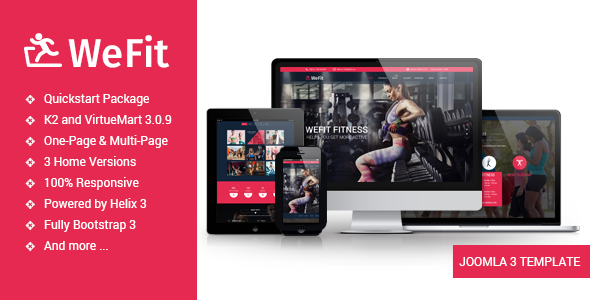 Wefit - Health, Sport, Gyms and Trainers Template
