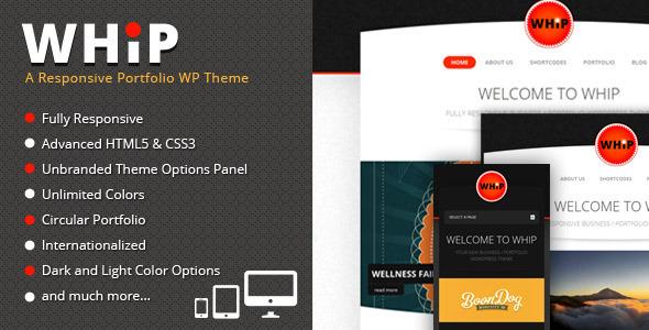 Whip - Responsive Portfolio WP Theme