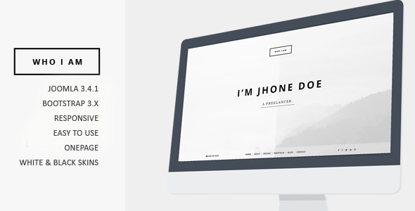 Who I am - Resume and Portfolio Joomla Template