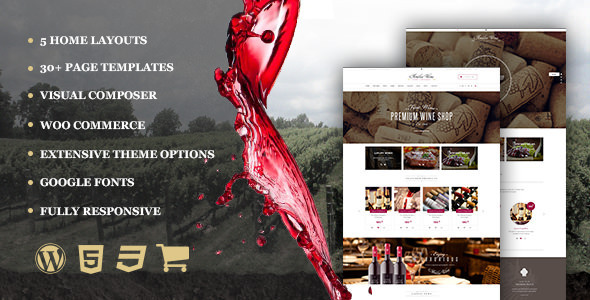 Wine - Restaurant WordPress Shop With Page Builder