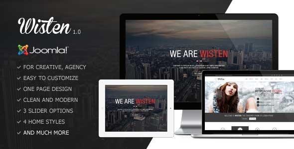 Wisten - One Page Parallax Joomla Template