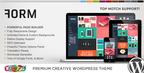WP Form Responsive Creative WordPress Theme