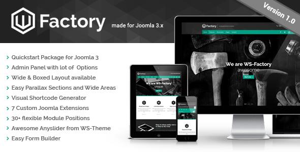 WS-Factory - Multipurpose Joomla Template