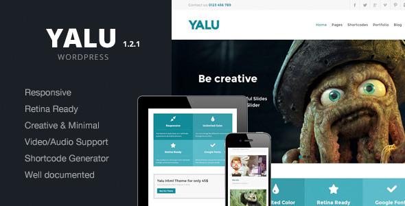 Yalu - Creative Multipurpose Template - Wordpress