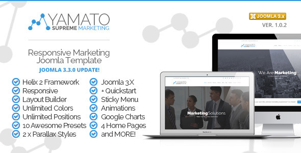 Yamato - Premium Responsive Marketing Joomla Template
