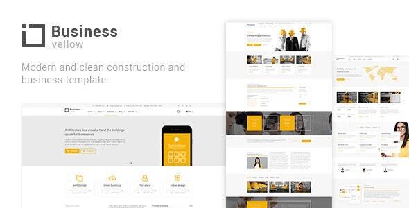 Yellow Business - Construction Drupal 8 Theme