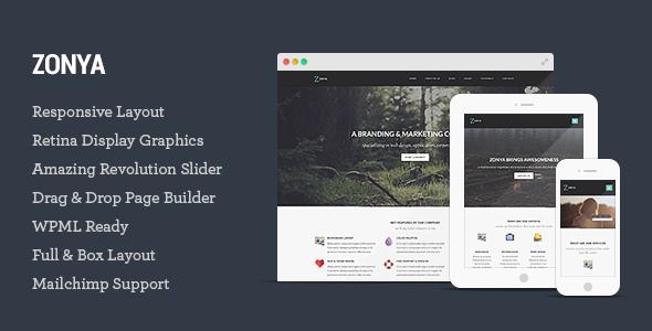 Zonya - Multipurpose Responsive WordPress Theme