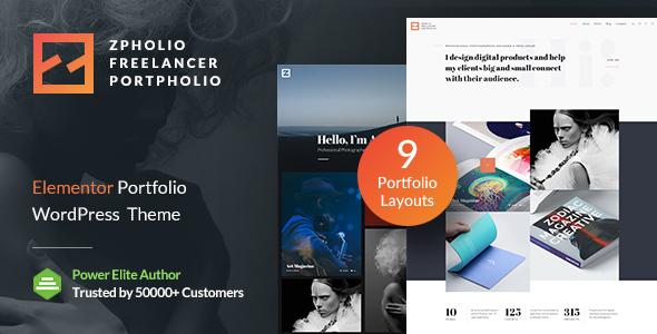 Zpholio   Creative Portfolio WordPress Theme for Elementor
